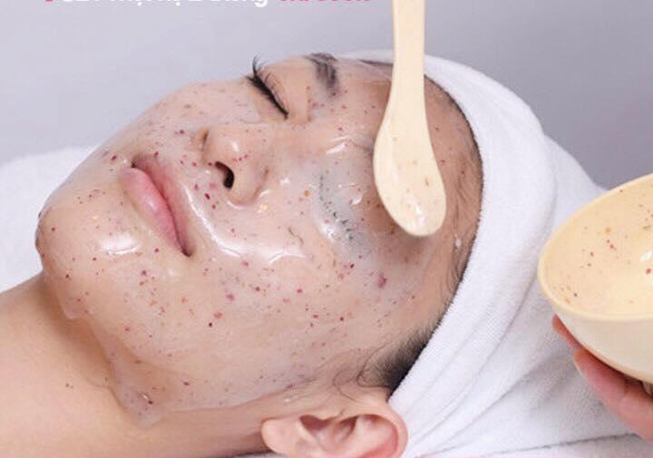 Red snapper fin collagen mask improve wrinkles on the skin